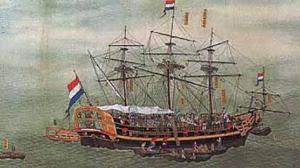 江戸時代のオランダ船