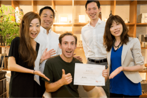 Smiling student after graduating their personalized Japanese classes
